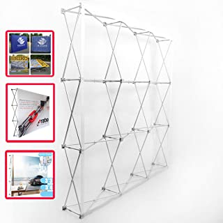 EVIEUN Aluminum Portable Straight Pop Up Trade Show Display Stand Backdrop Booth Frame Product Advertising Wall Christmas Activity Wall 8X12Ft