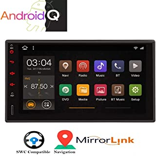 Android 10 2Din Stereo Quad Core Bluetooth Radio 7 Capacitive Touchscreen Double 2 Din GPS Car MP5 Video Player Audio FM AM RDS Receiver Navigation System Support Mirror Link WiFi USB SD CAM-in