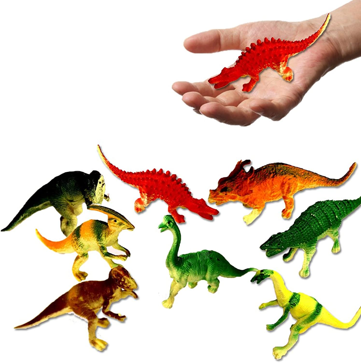 Toy Cubby Educational Large Realistic Dinosaurs  4  5 Dinosaurs Figures  24 Pcs. by Toy Cubby