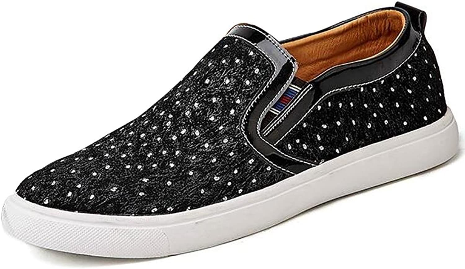 NANYDXIE Men's Suede Pattern Low Top Hand Made Fashion Sneakers Outdoor Leisure