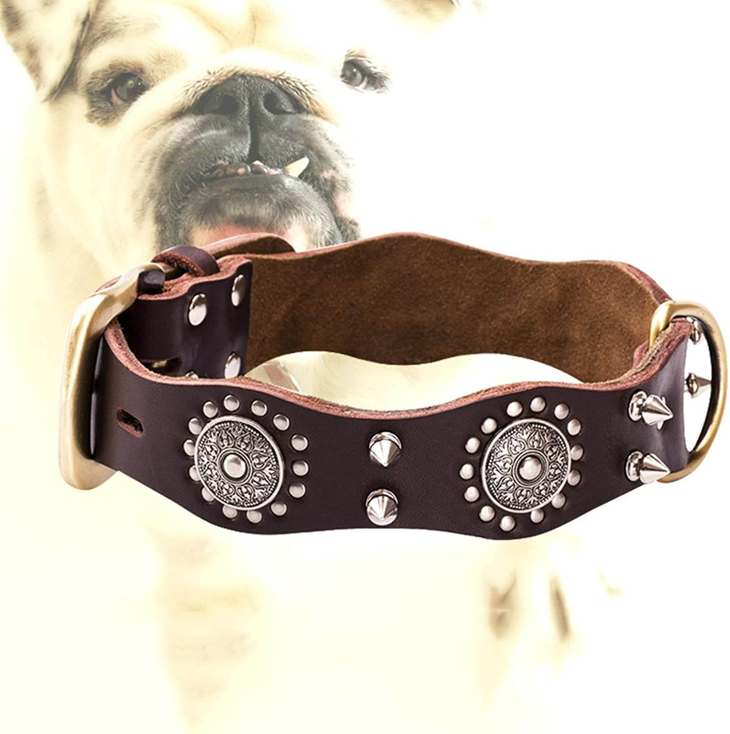 Safety Dog Collars Pet Wave Edge Dog Collar Dog Collar Pet Traction Explosion  Proof Resistance to Pull Bite Resistant Don't Clip Hair XQ06034