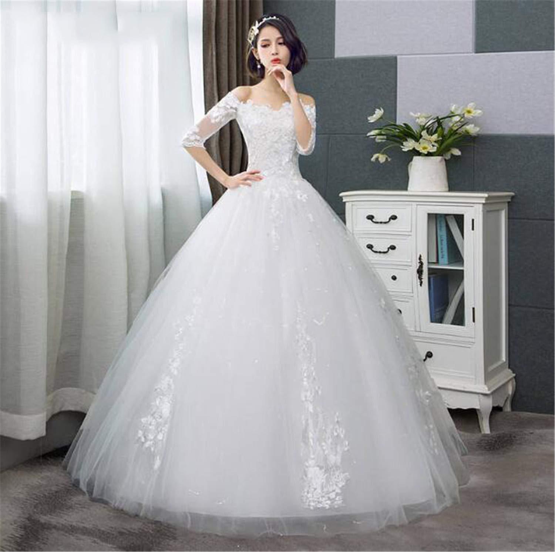He-shop Hochzeitskleid Brautkleid Mode Halbarm Brautkleider