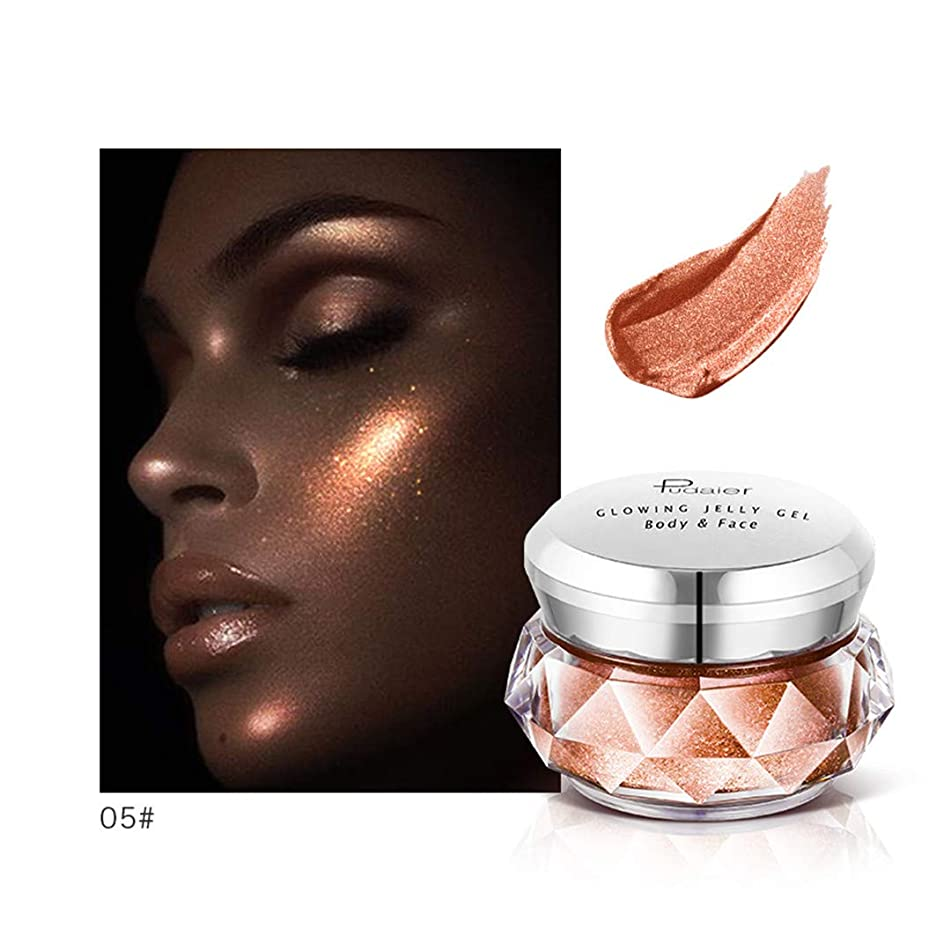 Build V Face Contour Makeup ter Gel Shimmer Shining Facial Body Eyeshadow Glitter Brighten Women 05