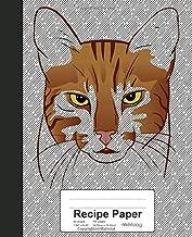 Recipe Paper: Book Egyptian Mau Cat (Weezag Recipe Paper Notebook)