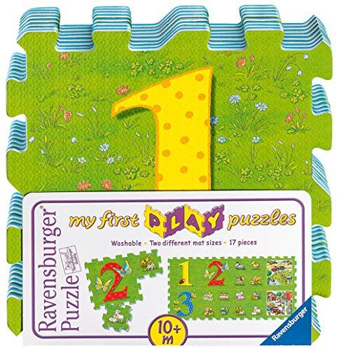 Ravensburger- My First Play Puzzles-La Ferme éducative Tapis de Mousse pour bébés et Enfants, 03008