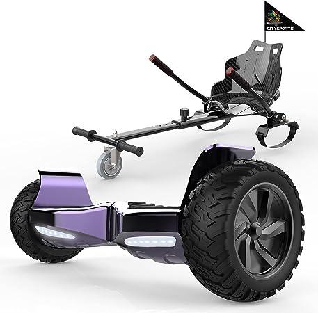 SOUTHERN-WOLF Hoverboards con Silla Auto Equilibrio, Patinete Eléctrico 8.5 Pulgadas con Asiento,Fuerte Dual Motor y Bluetooth, Regalo para Niños y ...