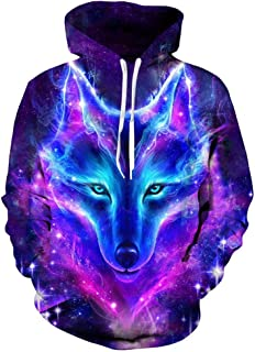 Unisex Animal Hoodie Cool Pullover Shirts Casual Funny Hooded Sweatshirt for Men Women
