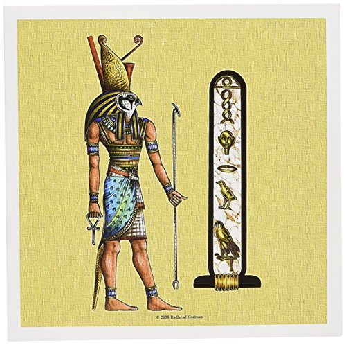 Horus Egyptian God Pagan Art - Greeting Card, 6 x 6 inches, single (gc_167462_5)