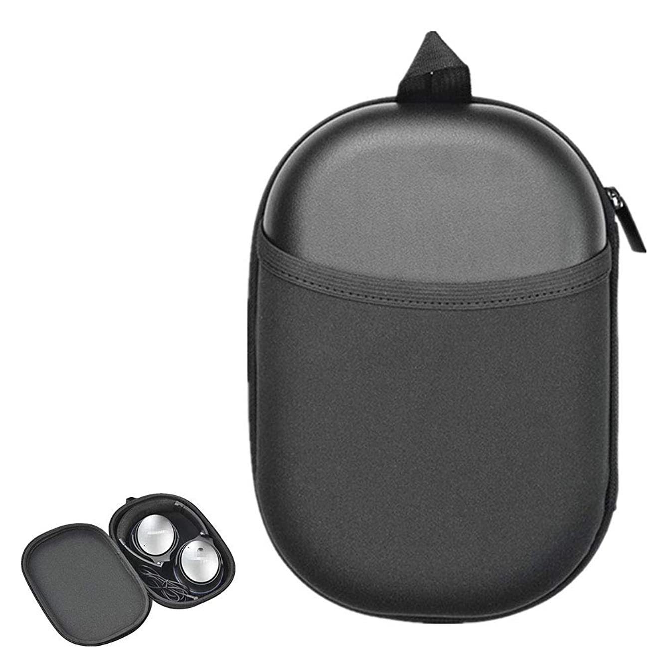 TopZK Headphone Hard Case Replacement for Bose QC35 (Series II), QC35, QC25, QC15 Wireless Bluetooth Headphone Headset Protective Travel Bag (Black)
