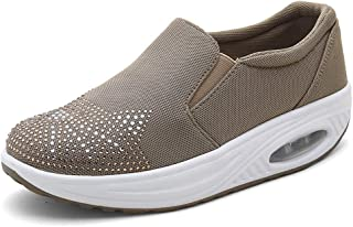 Ladies Single Shoes Casual Shoes Walking Shoes Mesh Thick Bottom Breathable Running Travel,Brown,40