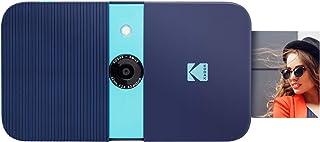 KODAK Smile Cámara digital de impresión instantánea – Cámara de 10MP que abre al deslizarse c/impresora 2x3 ZINK Pantalla Enfoque fijo Flash automático y edición de fotos – Azul