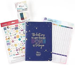 Erin Condren Designer Petite Planner Budget Starter Pack - Includes Budget Petite Planner, Monthly Bill Tracker Dashboard & Designer Paper Tape Duo