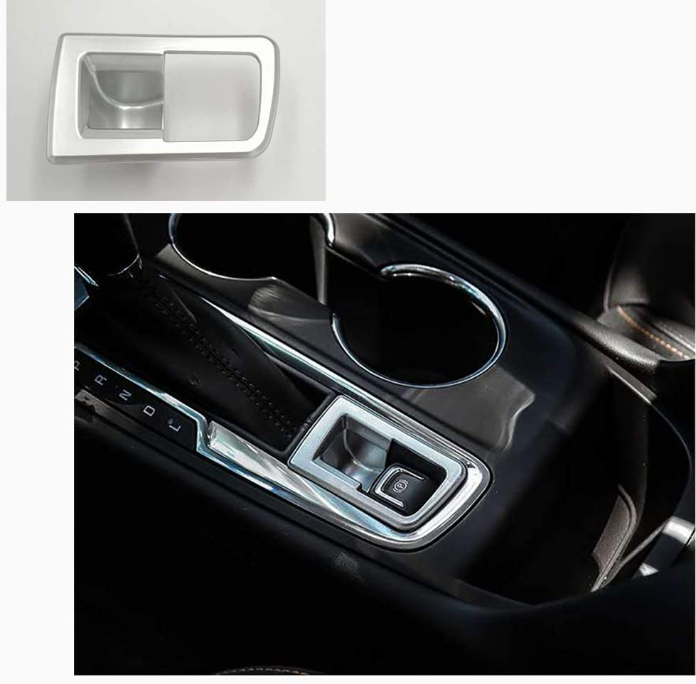 GEERUI ABS Electronic Handbrake Frame Decorate Cover Trim Fit for 2017-2020 Chevrolet Equinox.Accessory P Button Electronic Handbrake Frame Cover for 2017-2020 Chevy Equinox.