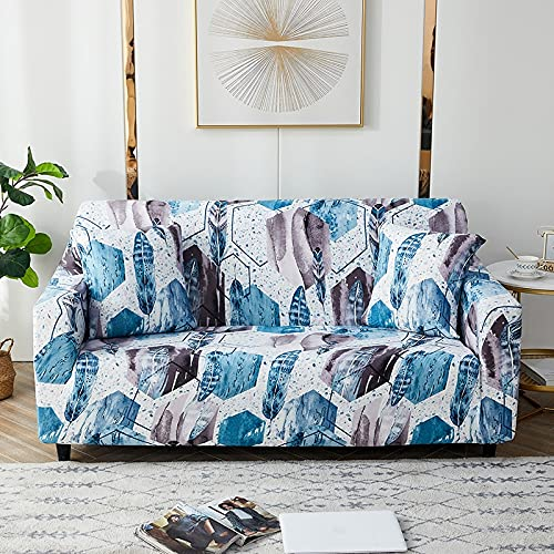 PPOS Elasthan Sofabezug Schonbezüge Elastischer All-Inclusive-Couchbezug für Verschiedene Formen Sofa Loveseat Chair L-Style Sofa Case A5 1Sitz 90-140cm-1pc