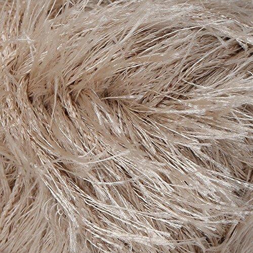 Schachenmayr Brazilia Pelote de fil tendance pour toutes les saisons avec effet franges raffinés Couleur 03 Camel 50 g