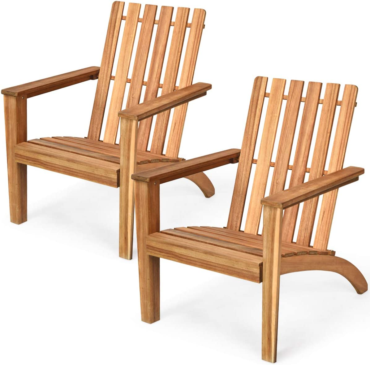 Giantex Fixed price for sale Max 70% OFF Wooden Adirondack Chair Outdoor W Ergonomic Design