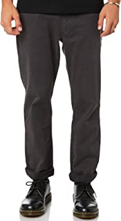 Thrills Men's Base Mens Chino Pant Cotton Fitted Elastane Grey