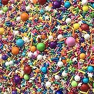 Sprinkles | Rainbow Sprinkle Mix | 8 ounces | Cake Sprinkles | Manvscakes