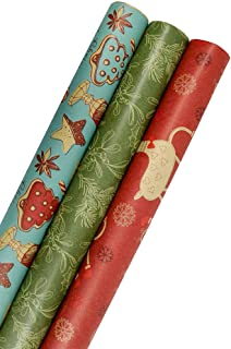 Huge Roll of Wrapping Paper Christmas Vintage Department Store Gift Wrap Valentines Day Shiny Red Mosaic Birthday 26\u201d Wide