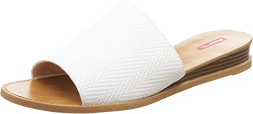 Women Marcelino White Fashion Slippers 6 Kids UK 6711181