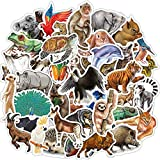 80 Pcs Waterproof Rainforest Animal Vinyl Stickers Pack for Kids Teachers Students to DIY Laptop Water Bottle Phone Case Scrapbooking Skateboard Bike