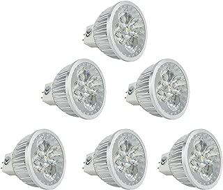 CTKcom MR16 LED Bulbs 110V~120V(6 Pack), 5W G5.3 LED Spotlight Equal to 50W Halogen Bulbs 3000K Warm White 400LM Spotlight for Landscape Accent Recessed Track Lighting Bulbs