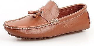 [QIFENGDIANZI] 靴 メンズ ドライビングシューズ カジュアルシューズ ローファー スリッポン モカシン デッキシューズ ビジネスシューズ お洒落 身長アップ 軽量 通気性 アウトドア ローカット 通勤 通学 黒 ブルー ブラウン