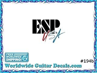 ESP Guitar Decal Headstock Waterslide Restoration logo 194b