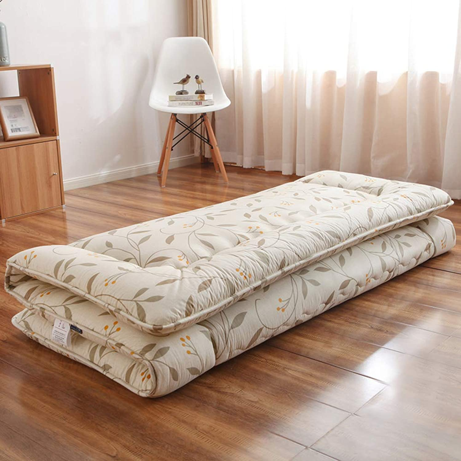 Thick Futon Tatami Floor Mattress, Quilted Japanese Traditional Folding Sleeping Floor mat Pad for Student Dorm-A 90x190cm(35x75inch)