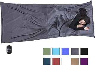 Browint Silk Sleeping Bag Liner, Silk Sleep Sheet, Sack, Extra Wide 87