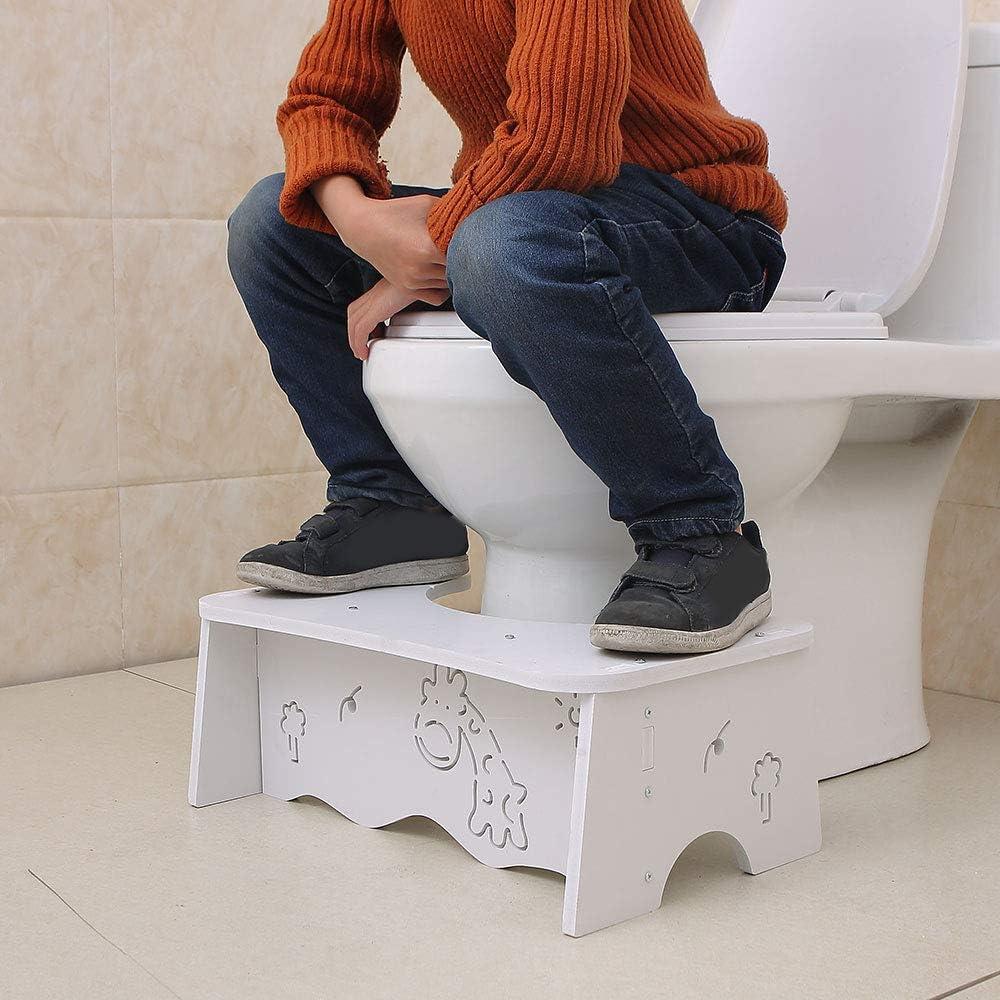 wei/ß Hocker SUREH Toilettenhocker aus Holz strapazierf/ähig Hocker Hocker Wei/ß Fawn Hocker