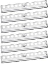 AMIR Luces de clóset con sensor de movimiento, para pegar en cualquier lugar, portátil, 10 luces LED, inalámbricas, para a...