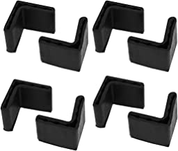 uxcell 34mm x 34mm x 3mm L Shape Furniture Angle Rubber Pad Foot Leg Cover Protector 8PCS