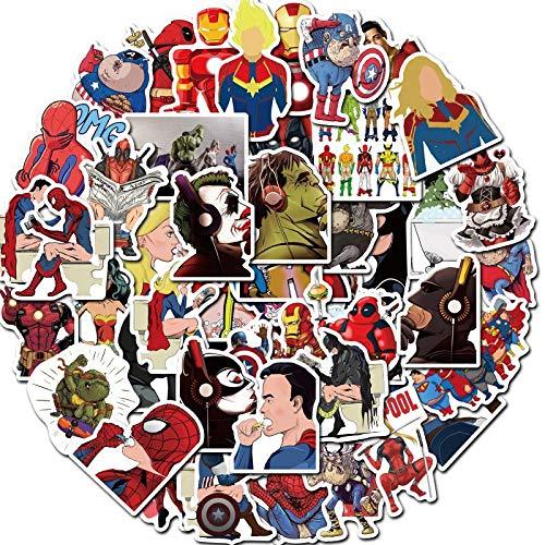 LMY 50 unids Marvel Hero spoof super pegatinas equipaje trolley caso portátil skateboard teléfono móvil impermeable graffiti pegatinas