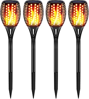 InnoGear Upgraded Solar Lights, Waterproof Flickering Flames Torches Lights Outdoor Solar Spotlights Landscape Lighting Dusk to Dawn Auto On/Off Security Torch Light for Patio Driveway,Pack of 4
