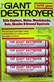 Giant Destroyer Smoke Bombs 12 Pack (48 Sticks) Kills Moles Gophers Skunks Rats Squirrels