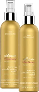 Ultimate Radiance Leave-In Conditioning Styler, 8.5 oz - Regis DESIGNLINE - Deep Conditioner Treatment that Reconstructs Damaged Hair and Repairs Split Ends (8.5 oz (2 pack))