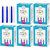 The Dreidel Company Menorah Candles Chanukah Candles 44 White and Blue Hanukkah Candles for All 8 Nights of Chanukah (5-Pack)