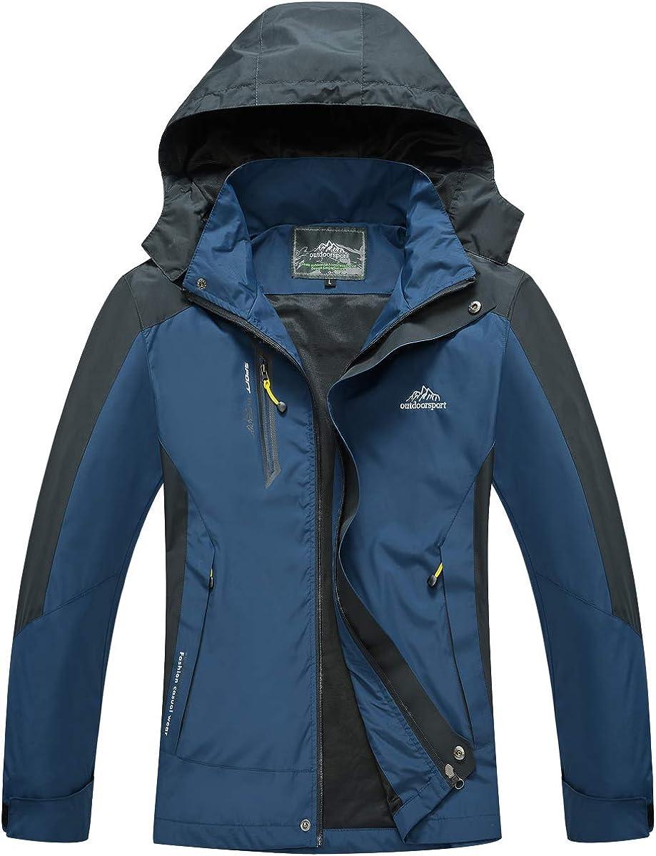 Gopune 新着 Mens Waterproof Raincoat Lightweight Hooded Outdoor 出荷 Hikin