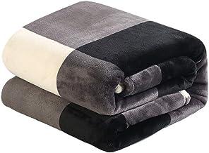 Koc, miękki koc na kolana Ciepłe prześcieradła na sofę i łóżko prezent (kolor: niebieski, rozmiar: 200230 cm) (czarny 200...