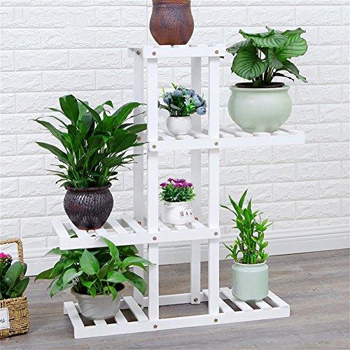 Support de fleur en bois massif blanc mode fleur pot affichage plateau balcon salon bureau intérieur et extérieur
