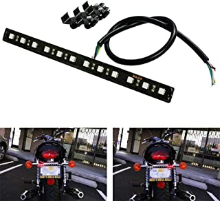 iJDMTOY (1) Brilliant Red Universal 12-SMD LED Aluminum Bar For Motorcycle Bike ATV Car RV SUV, etc For Brake Tail Light & Left/Right Turn Signal Lamp