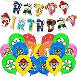 FGen 25pcs Decoración Cumpleaños Patrulla Canina Globos, Paw Dog Patrol Globos, Paw Dog Patrol Globos Decoraciones para Fiestas, for Kids Gift Fiesta de cumpleaños Suministros Decoración
