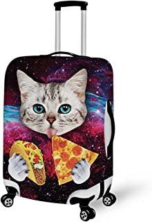 Spandex Travel Luggage Cover, Suitcase Protector Bag Fits 25-28 Inch Luggage Galaxy Taco Cat Pizza