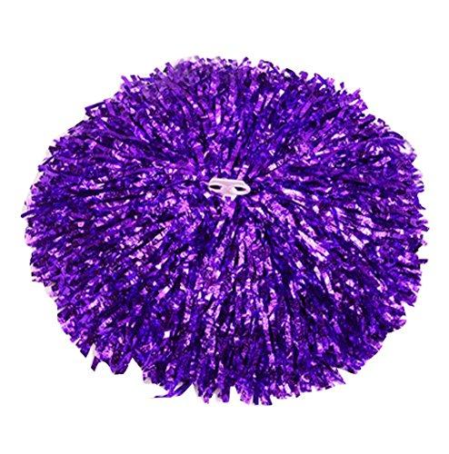 Black Temptation Lot de 2 Pom-Pom Girls Main Fleur Props Jeux Pom Poms Danse Ball, Purple