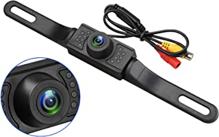 EEEKit Vehicle Backup Camera, Rear View Camera Waterproof High Definition Color Wide Viewing Angle License Plate Car Camera with 7 Bright LED Night Vision