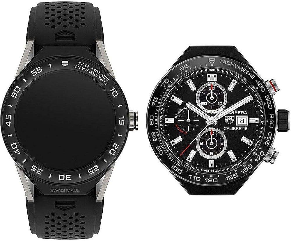 Tag heuer connected smartwatch  cronografo uomo movimento automatico SBF8A8001