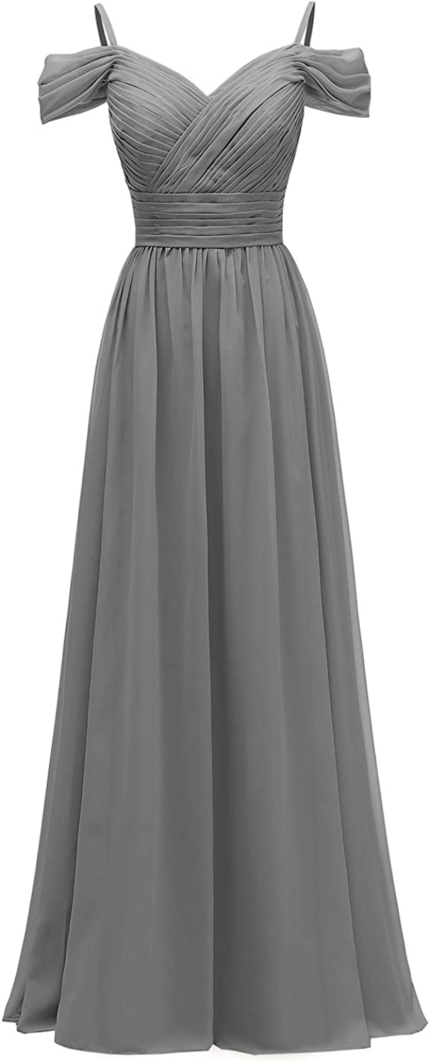 Jacksonville Mall YORFORMALS Women's Off The Shoulder Pleated Chiffon Bridesmaid D Limited time cheap sale