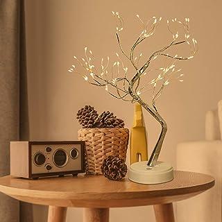 DINAPENTS LED Bonsai Baum Lichter 108 LED Lichterbaum Tisch Bonsai Baum Blüten Licht Künstliches Baum USB/Batteriebetriebe...