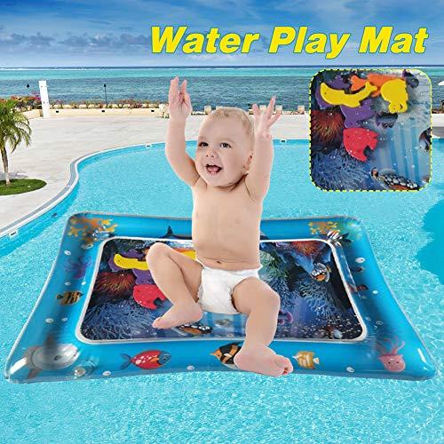 XXCLZ Bebé del Agua Kids Play Mat Inflable del cojín con Pescado Flotante Lindo bebé Juguetes y Juguetes de Aprendizaje Actividades de Verano 65x50cm Cool Play matemáticas,60 * 50cm